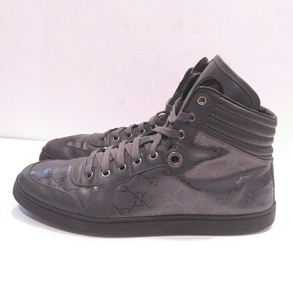 612f02fa090 Gucci Other - Gucci Men s GG Imprimé Lace-up High Top Sneaker 9g